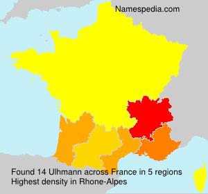 Familiennamen Ulhmann - France