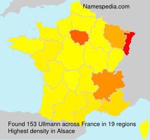 Familiennamen Ullmann - France