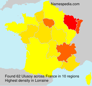 Surname Ulusoy in France