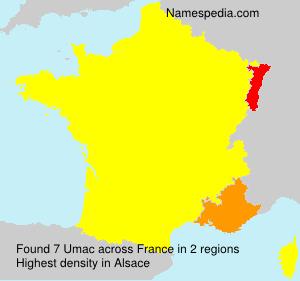 Surname Umac in France
