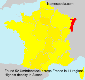 Surname Umbdenstock in France