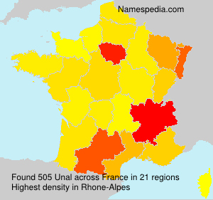 Surname Unal in France