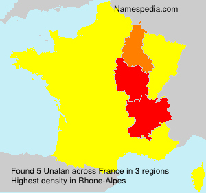 Surname Unalan in France