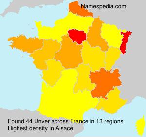 Familiennamen Unver - France