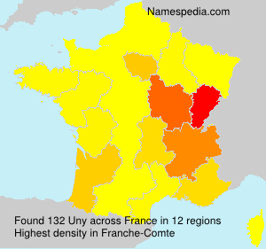 Surname Uny in France