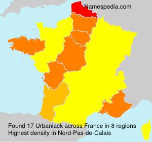 Surname Urbaniack in France