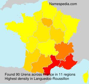 Surname Urena in France