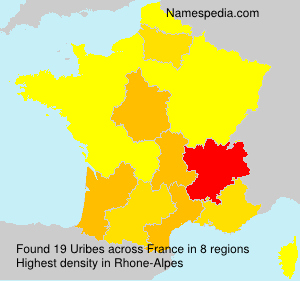Surname Uribes in France