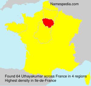 Surname Uthayakumar in France