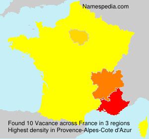 Familiennamen Vacance - France