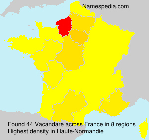 Familiennamen Vacandare - France