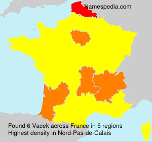 Surname Vacek in France