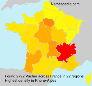 Surname Vacher in France