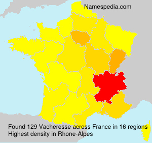 Familiennamen Vacheresse - France