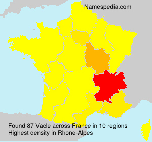 Surname Vacle in France