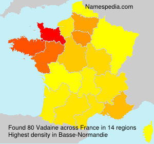 Surname Vadaine in France
