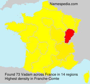 Surname Vadam in France