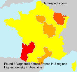 Surname Vagnarelli in France