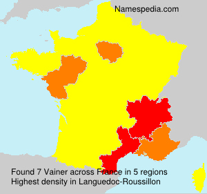 Surname Vainer in France