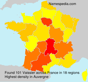 Surname Vaissier in France