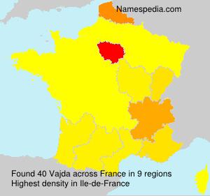 Surname Vajda in France