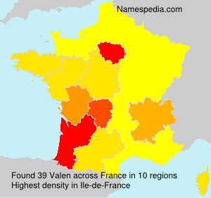 Surname Valen in France