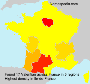 Surname Valentian in France