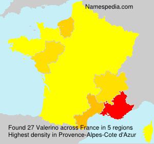 Surname Valerino in France
