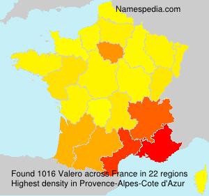 Familiennamen Valero - France