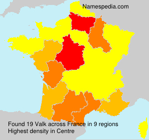 Surname Valk in France