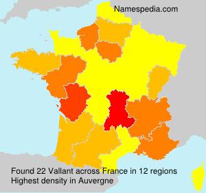 Familiennamen Vallant - France