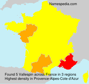Surname Vallespin in France