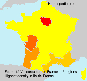 Familiennamen Valleteau - France