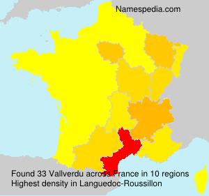 Familiennamen Vallverdu - France