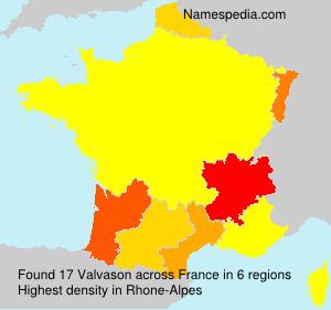 Surname Valvason in France