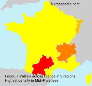 Surname Valzelli in France