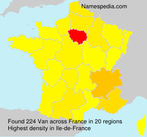Surname Van in France