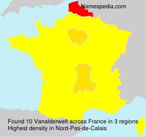 Familiennamen Vanalderwelt - France