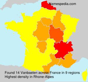 Surname Vanbaelen in France