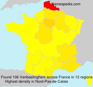 Surname Vanbaelinghem in France
