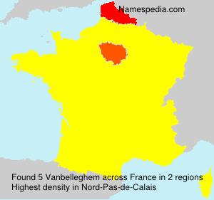 Surname Vanbelleghem in France