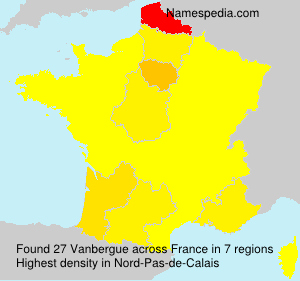 Surname Vanbergue in France