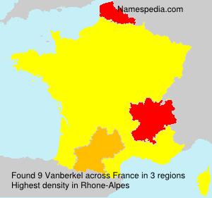 Surname Vanberkel in France