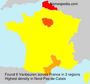 Surname Vanbeuren in France