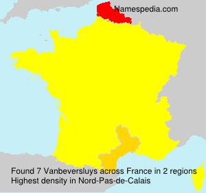 Surname Vanbeversluys in France
