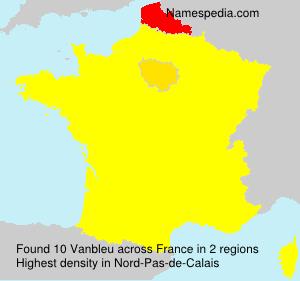 Surname Vanbleu in France