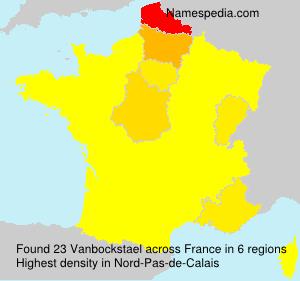 Surname Vanbockstael in France