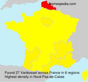 Surname Vanbossel in France