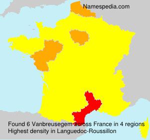 Surname Vanbreusegem in France