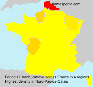 Surname Vanbuckhave in France